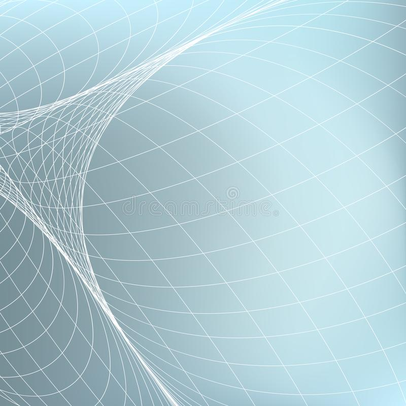 几何抽象的背景 在透视的曲线分流的细线 皇族释放例证