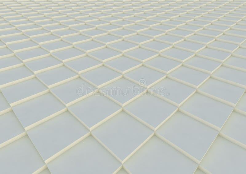几何抽象的背景 建筑样式 正方形的纹理 3d例证回报 库存例证