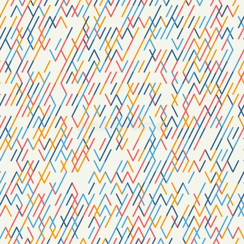 几何抽象的背景 无缝的模式 皇族释放例证