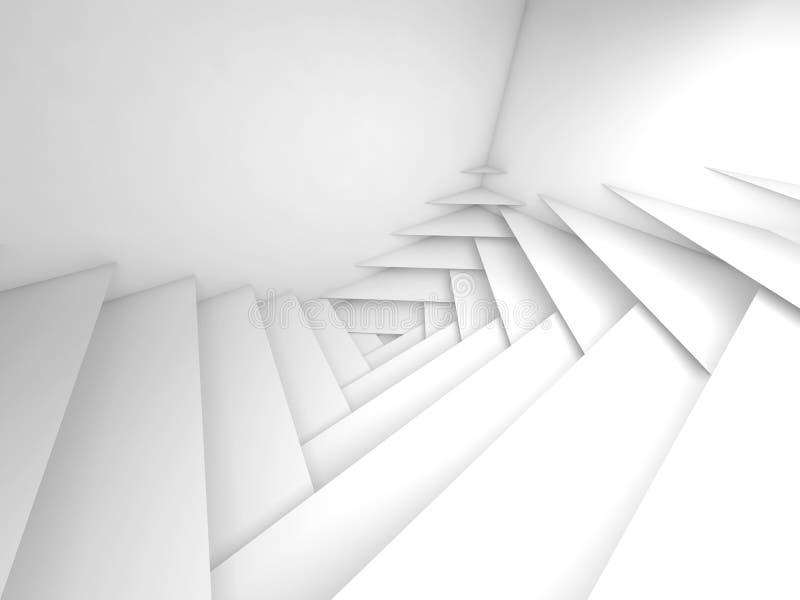 几何抽象的背景 白色分层堆积3d艺术 向量例证