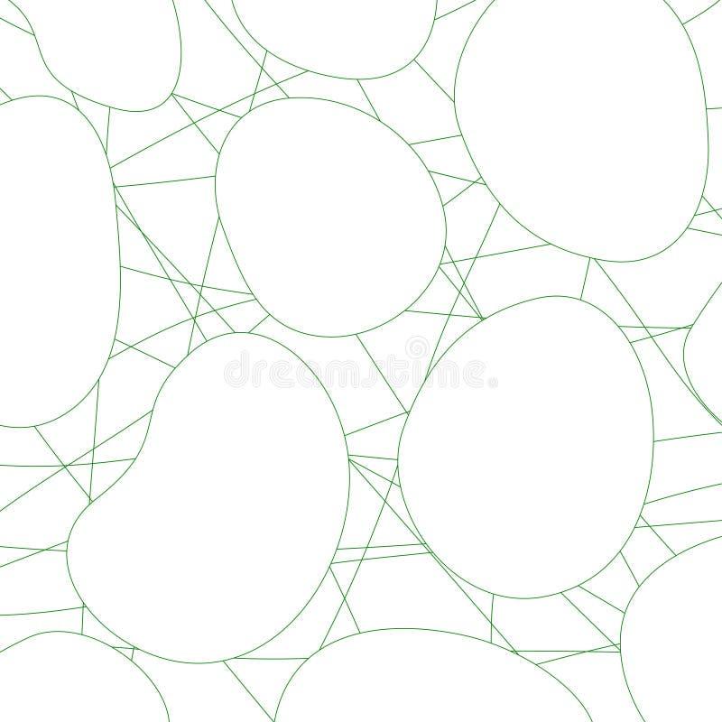 几何抽象的背景 线和圈子 库存例证