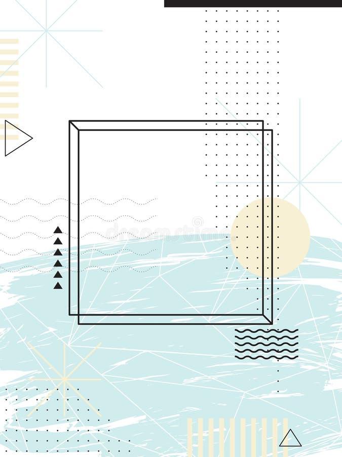 几何抽象的背景 背景设计要素空白四的雪花 库存例证