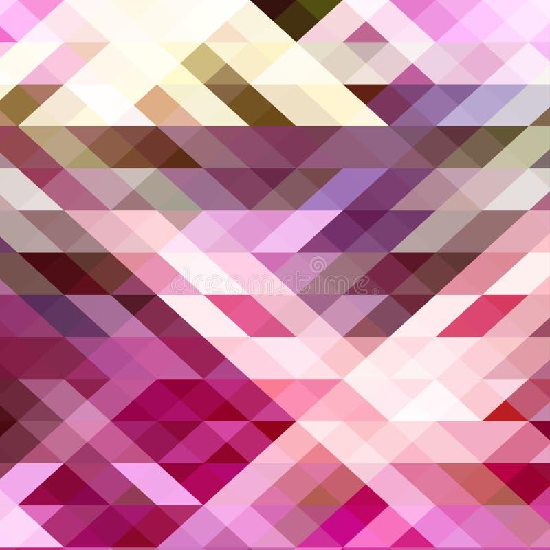 几何抽象的背景 背景颜色三角和多角形 皇族释放例证