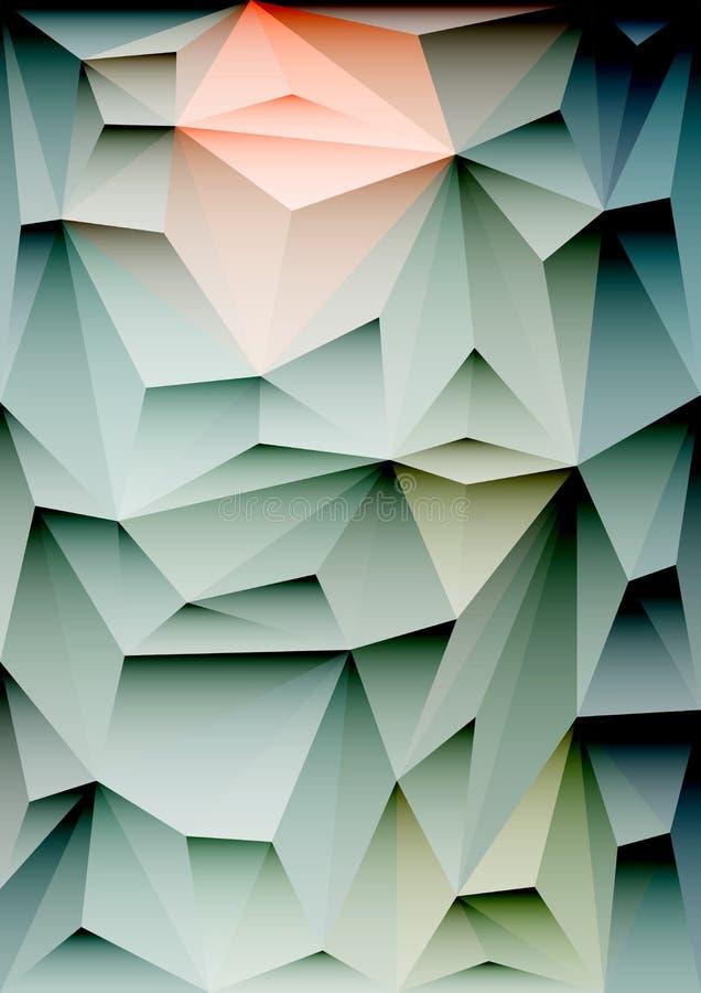 几何抽象的背景 免版税图库摄影