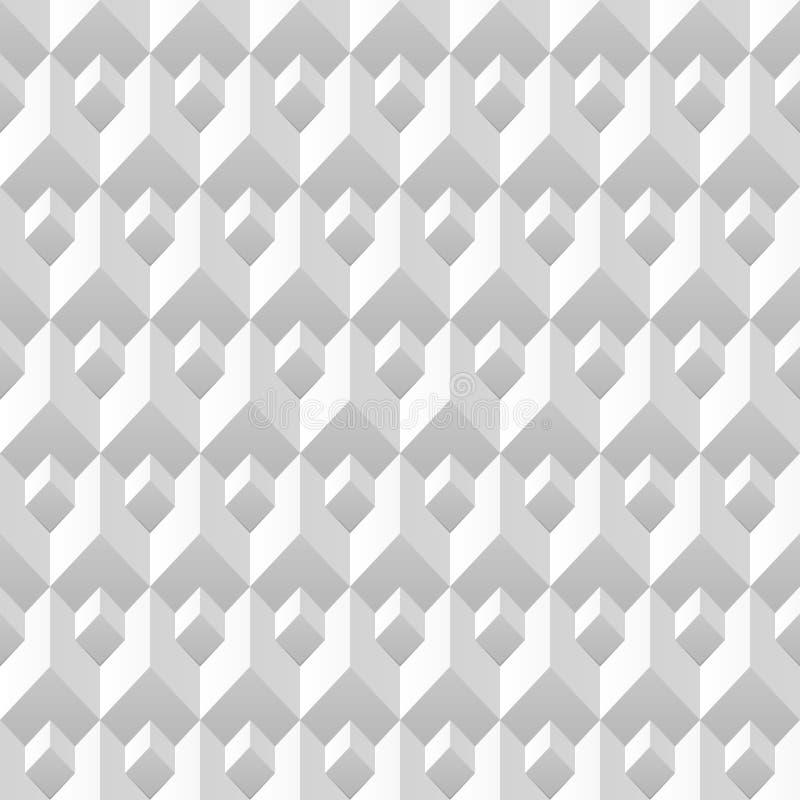 几何抽象的背景 3d纹理 空白 库存例证