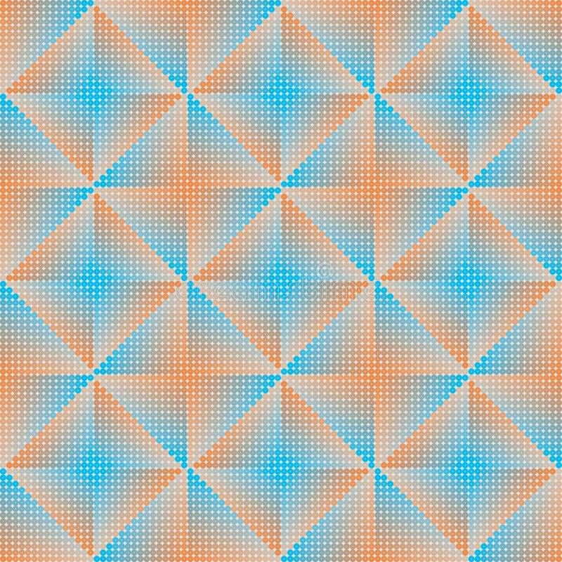几何抽象背景蓝色和桔子 向量例证