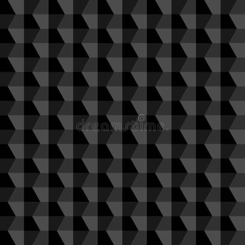 黑几何抽象背景 免版税库存照片