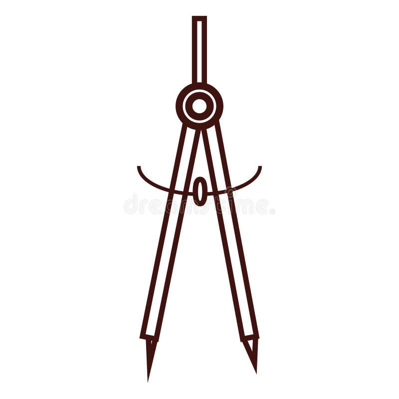 几何指南针器物 皇族释放例证