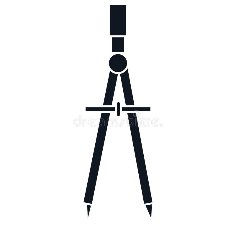 几何指南针器物 向量例证