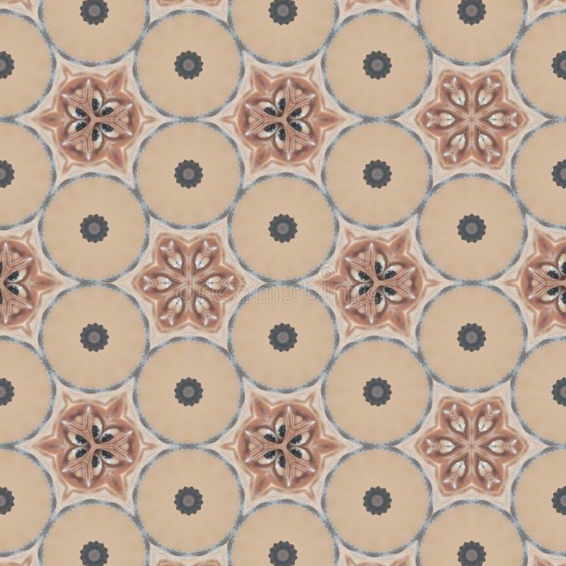 几何摘要布朗,橙色,红色,黑,金子,与计算机控制学的微粒的蓝色,灰色数字背景 皇族释放例证