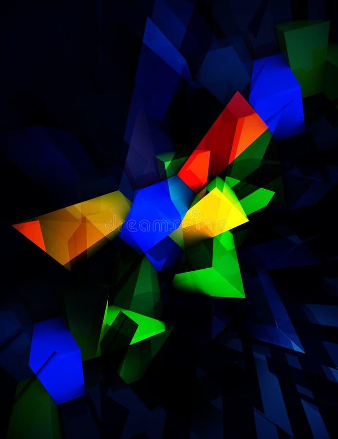 几何摘要色的减速火箭的设计模板 皇族释放例证