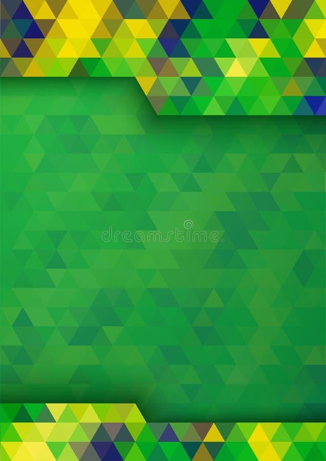 几何数字式背景巴西2016种旗子颜色,传染媒介A4格式 皇族释放例证