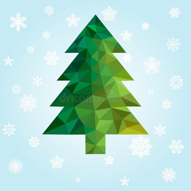 几何新年树 库存例证