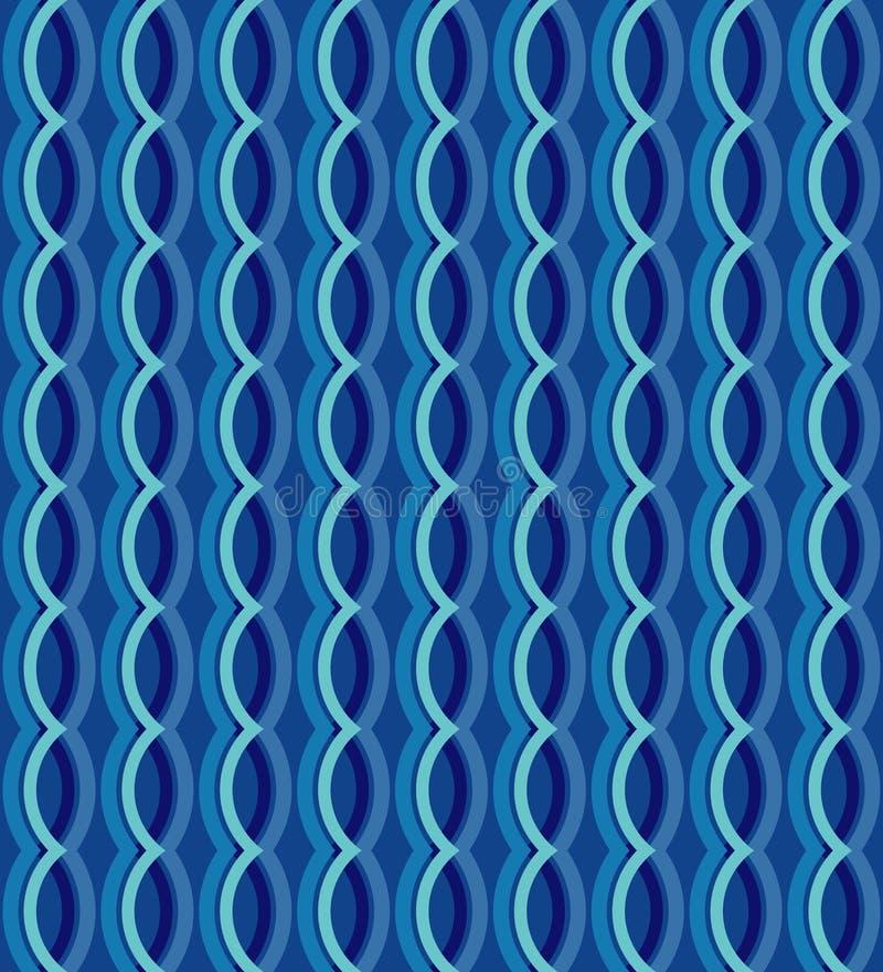 几何无缝的传染媒介弯曲的波动图式纹理背景 4头母牛图象例证集合向量 传染媒介设计 皇族释放例证