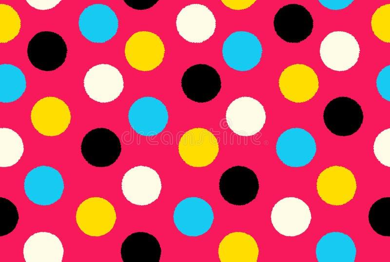 几何无缝的样式背景圆点 库存例证