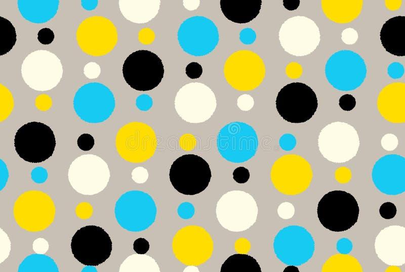 几何无缝的样式背景圆点 皇族释放例证