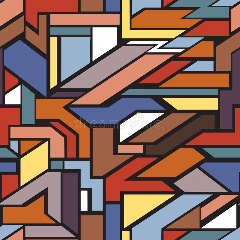 几何无缝的模式 库存例证