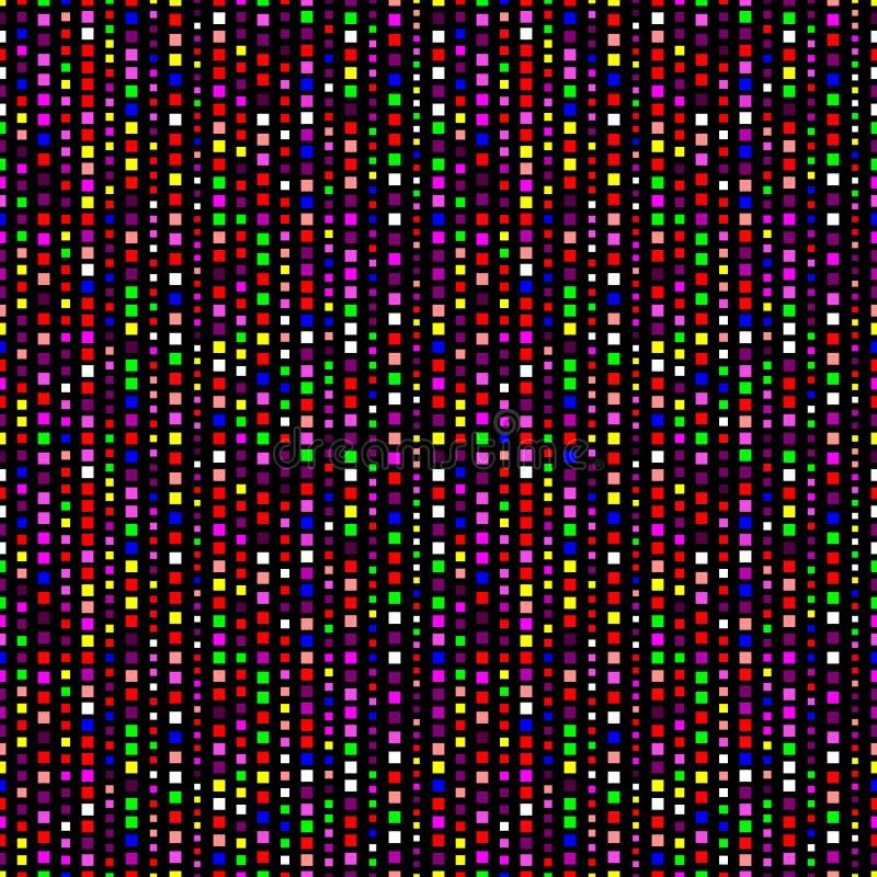 几何无缝的霓虹样式 向量例证