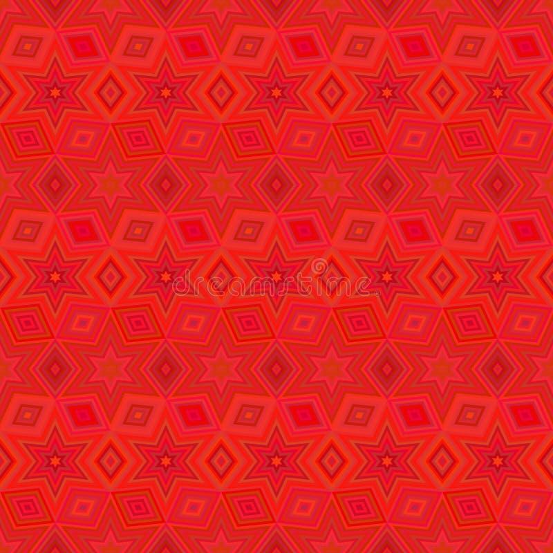 几何星无缝的样式 时尚图形设计 也corel凹道例证向量 背景设计 错觉3D现代时髦的a 库存例证