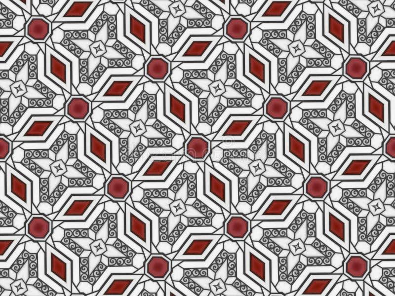 几何样式螺旋塑造例证 免版税库存图片