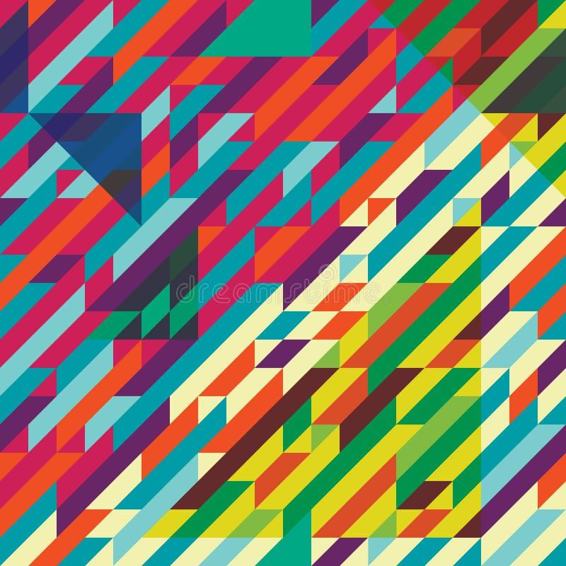 几何样式颜色 免版税库存照片