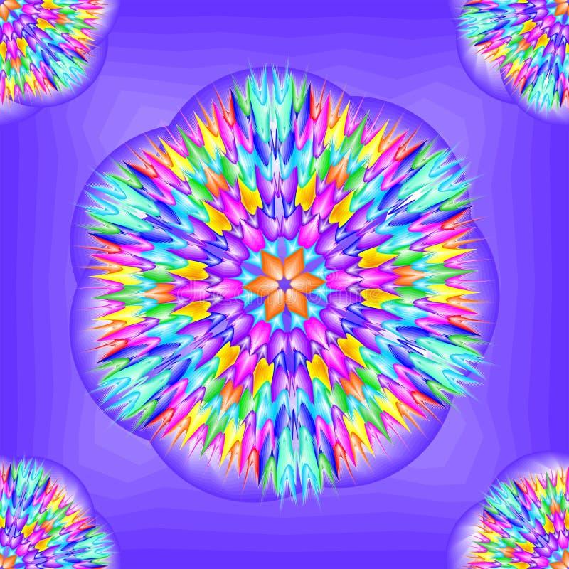 几何样式-宇宙花的抽象 库存图片