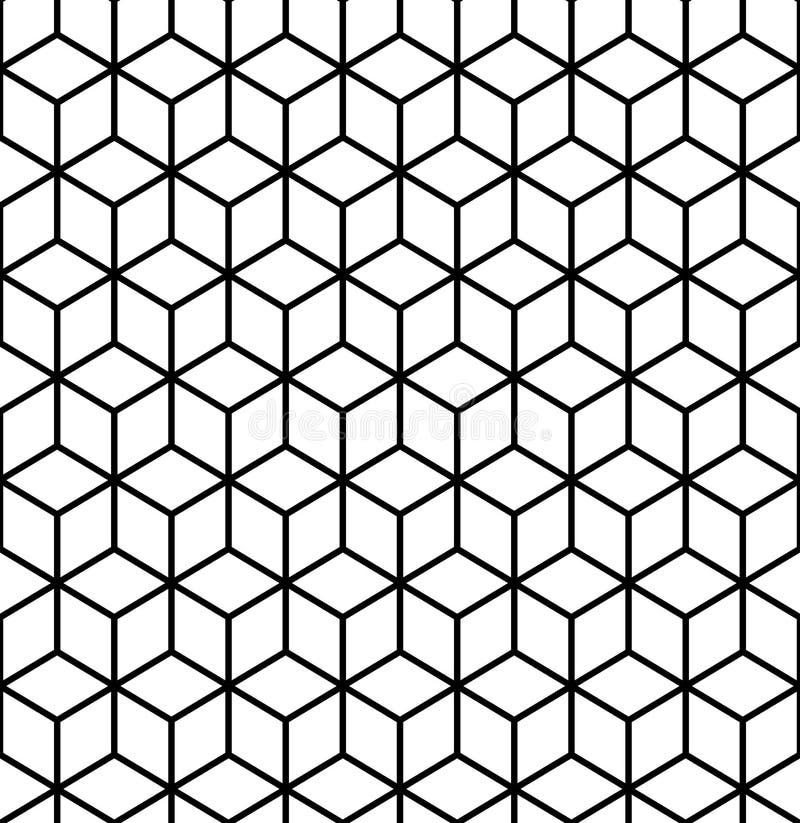 几何模式 立方体无缝的样式 背景几何线路 皇族释放例证