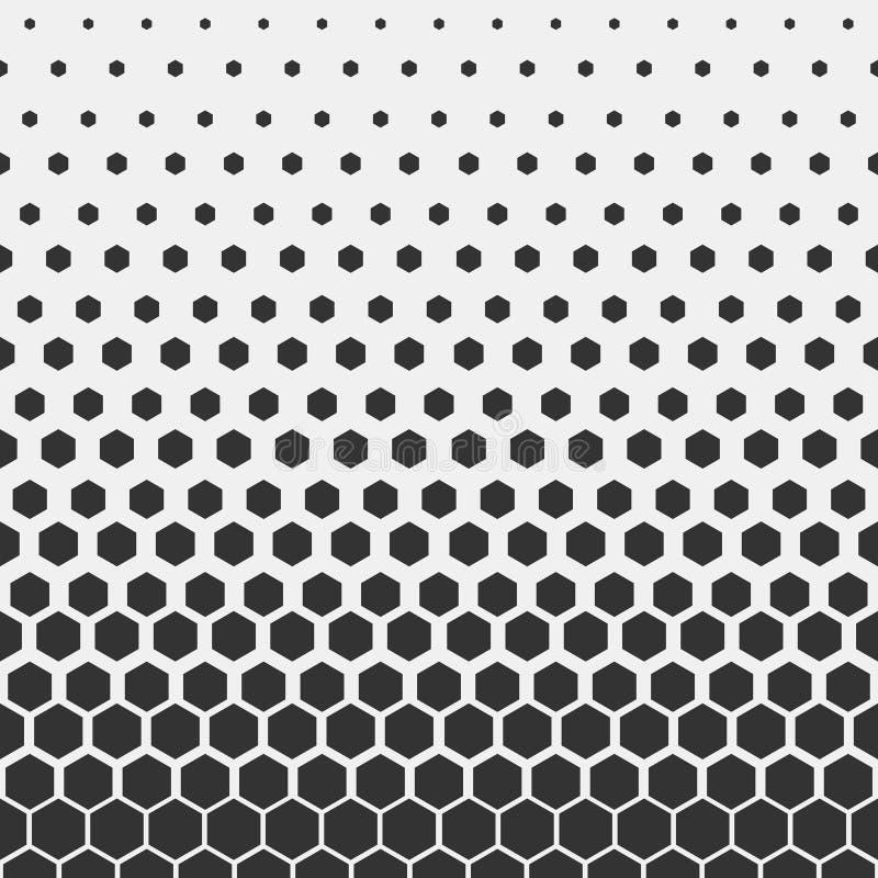 几何模式 行家时尚设计印刷品六角样式 在轻的背景的黑蜂窝 向量 库存例证