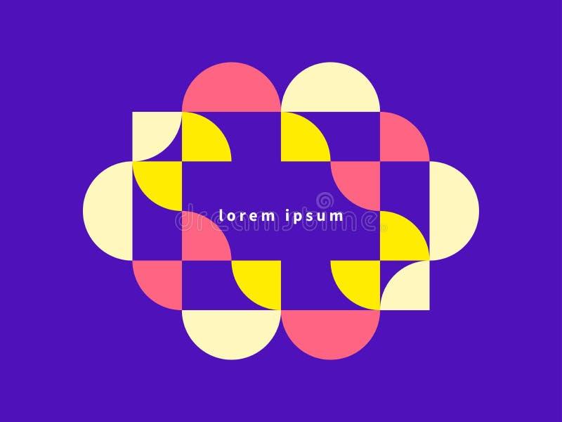 几何横幅,现代构成 向量例证