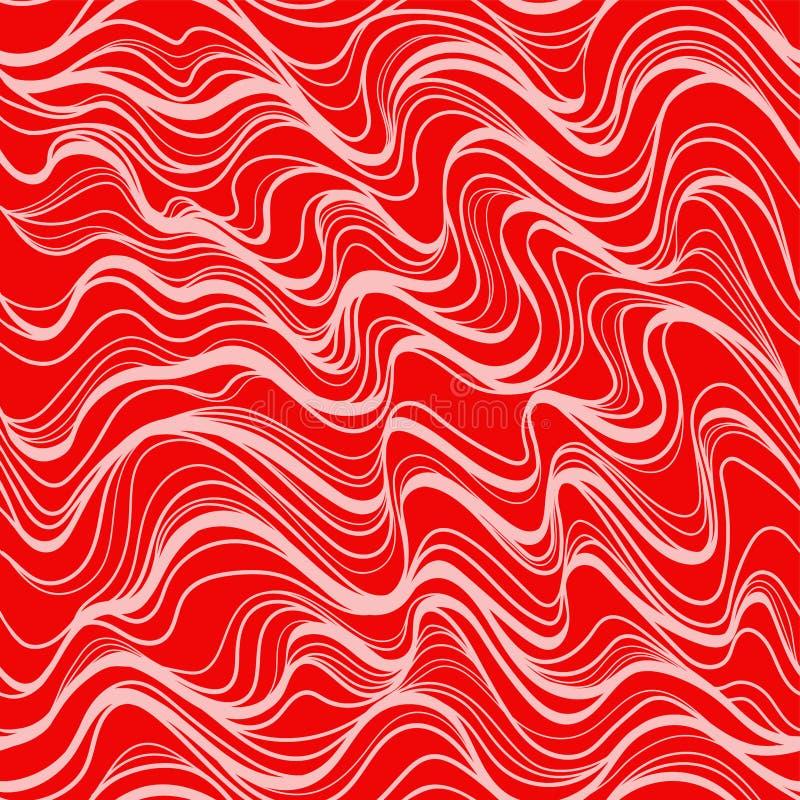 Geometric wave pattern thin lines silhouette retro3 库存例证