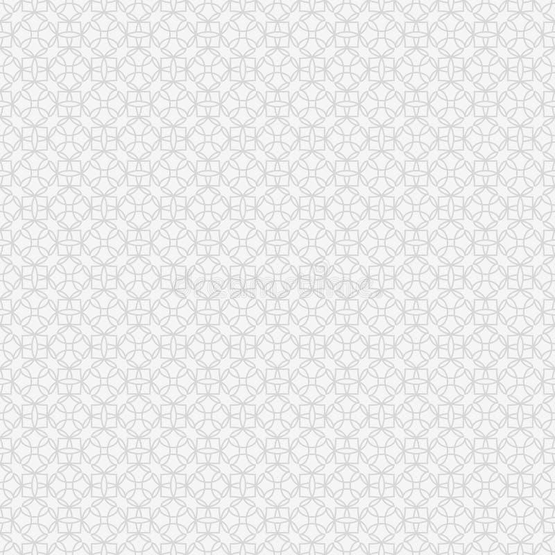 几何灰色模式无缝的向量 向量例证