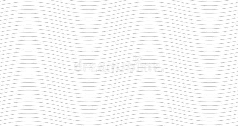 几何灰色波浪无缝的样式 轻的收藏 抽象波浪织地不很细背景设计 传染媒介例证为 库存例证