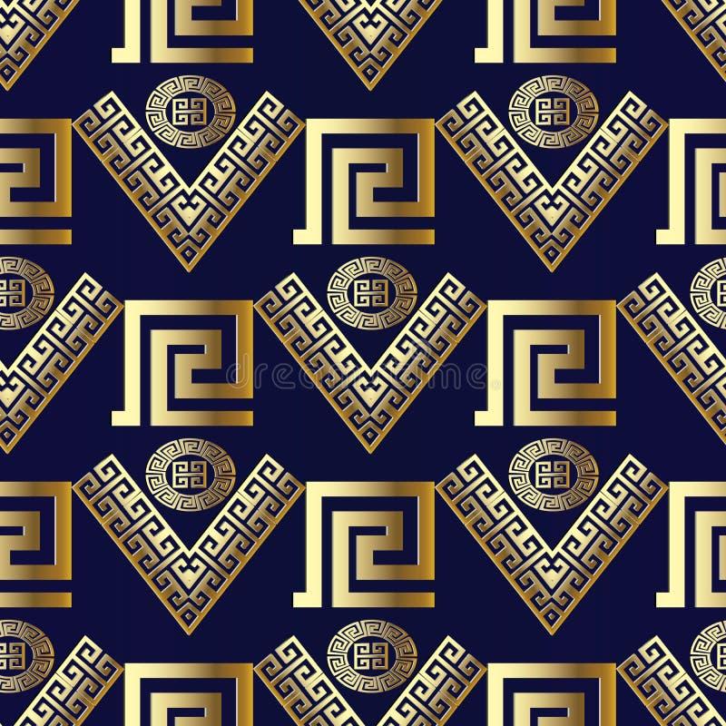 几何现代传染媒介无缝的样式 背景蓝色现代 皇族释放例证