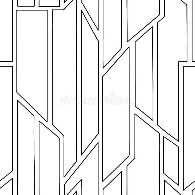 几何用不同的几何形式的传染媒介无缝的样式 正方形,三角,长方形 现代techno最小的设计 顿断法 库存例证