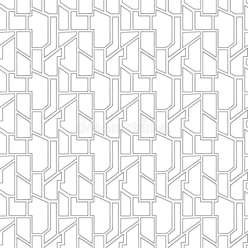 几何用不同的几何形式的传染媒介无缝的样式 正方形,三角,长方形 现代techno最小的设计 向量例证