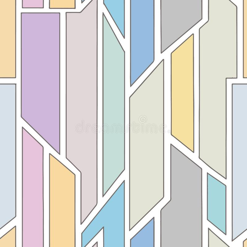 几何用不同的几何形式的传染媒介无缝的样式 正方形,三角,长方形 现代techno最小的设计 皇族释放例证