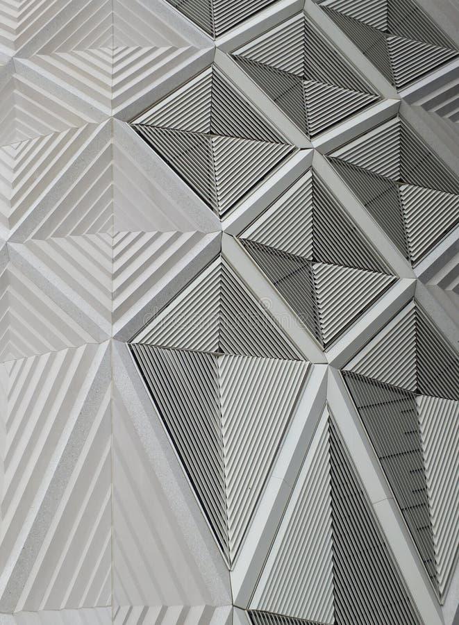 几何白色样式和金属 库存图片