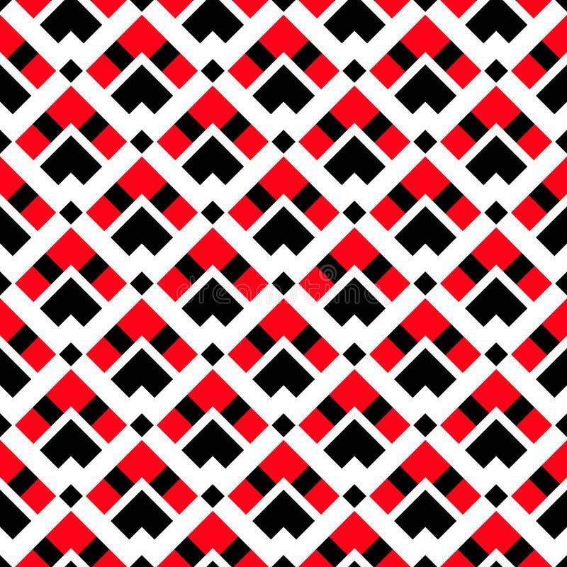 几何白色红色黑种族样式 向量例证