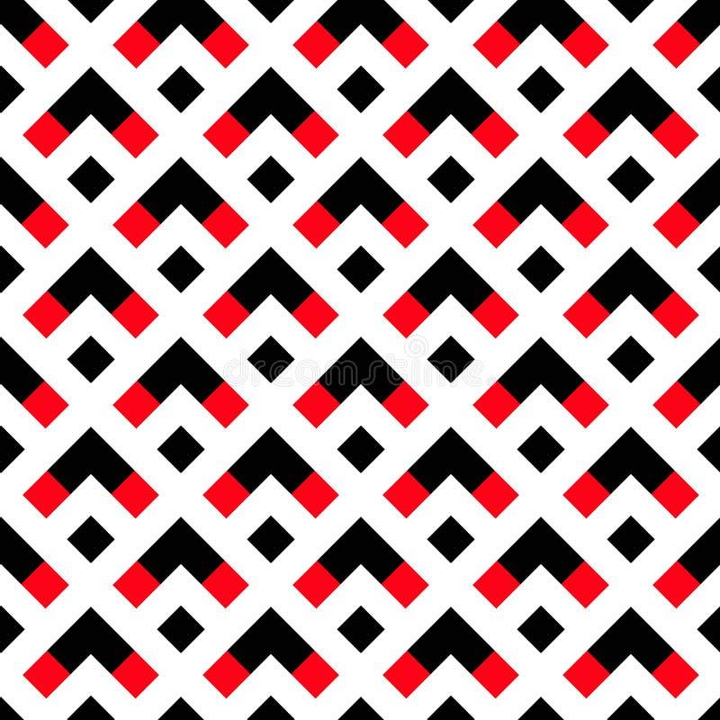 几何白色黑红色箭头样式 向量例证