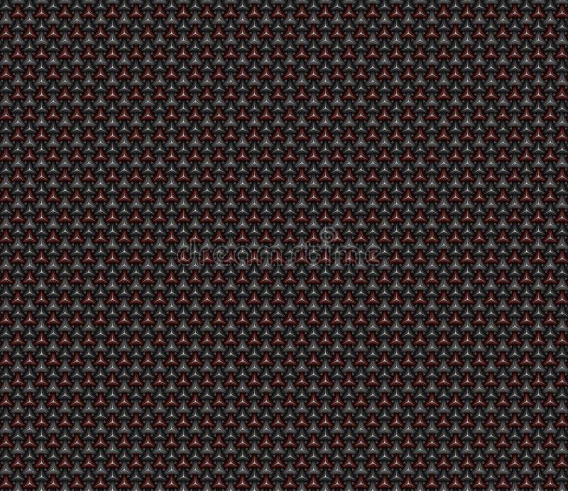 几何碳纤维无缝的背景样式 3D回报il 向量例证