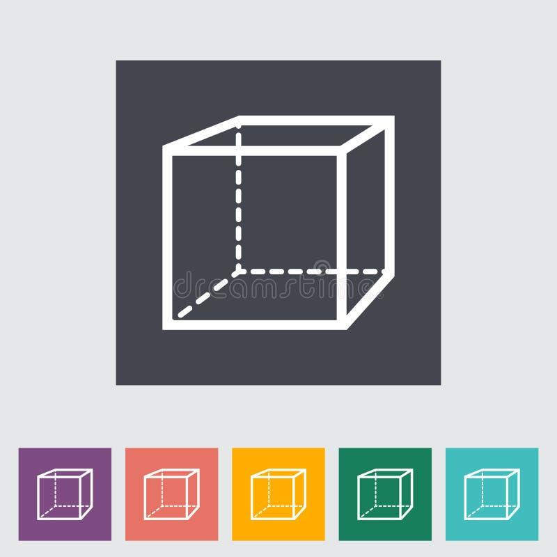 几何立方体 皇族释放例证