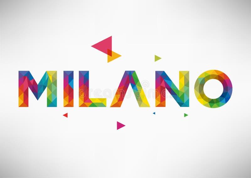 几何米兰市传染媒介设计 免版税库存照片