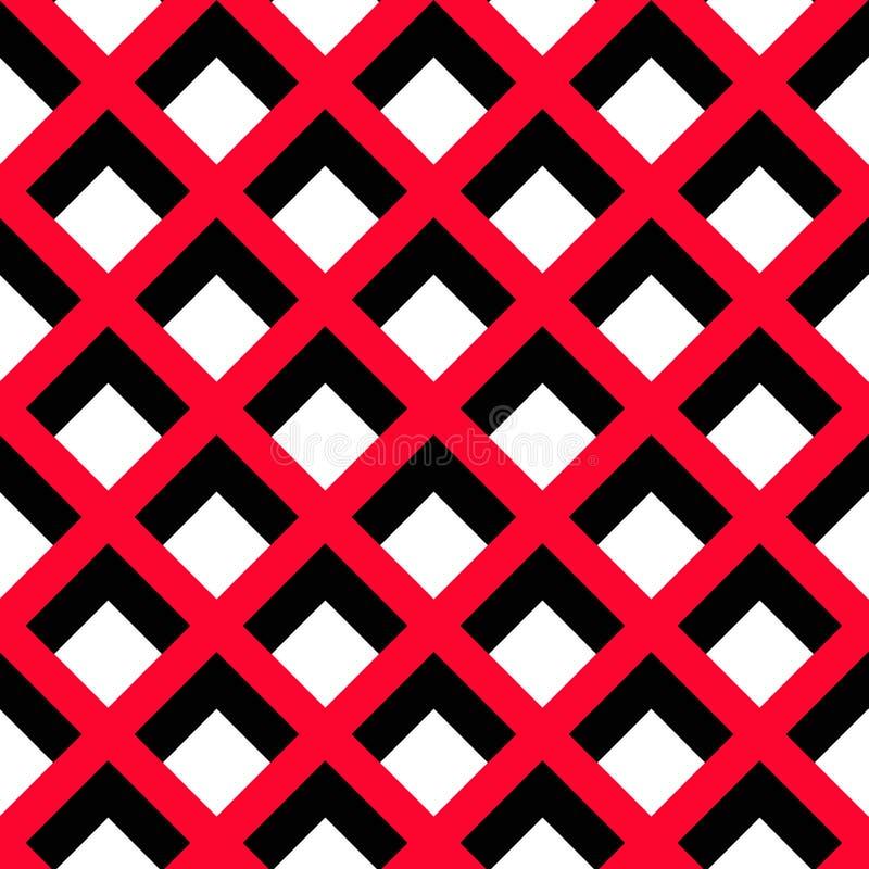 几何红色黑白色样式 皇族释放例证