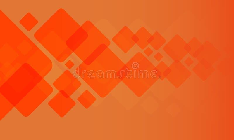 几何纹理有橙色背景 库存例证