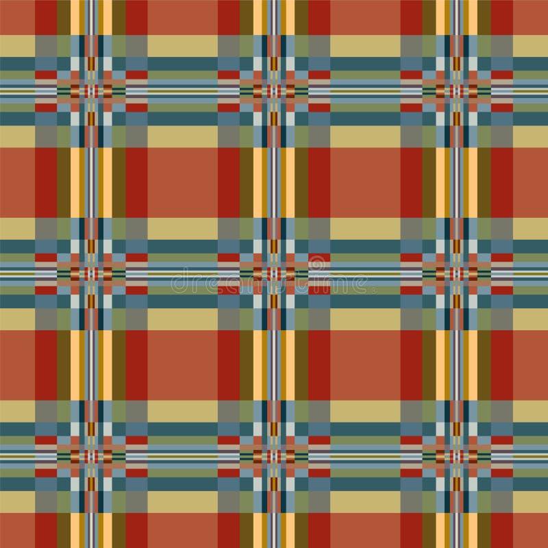 几何纺织品无缝的样式 库存例证