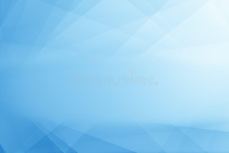 几何线遮蔽的抽象派和蓝色梯度的淡色 向量例证