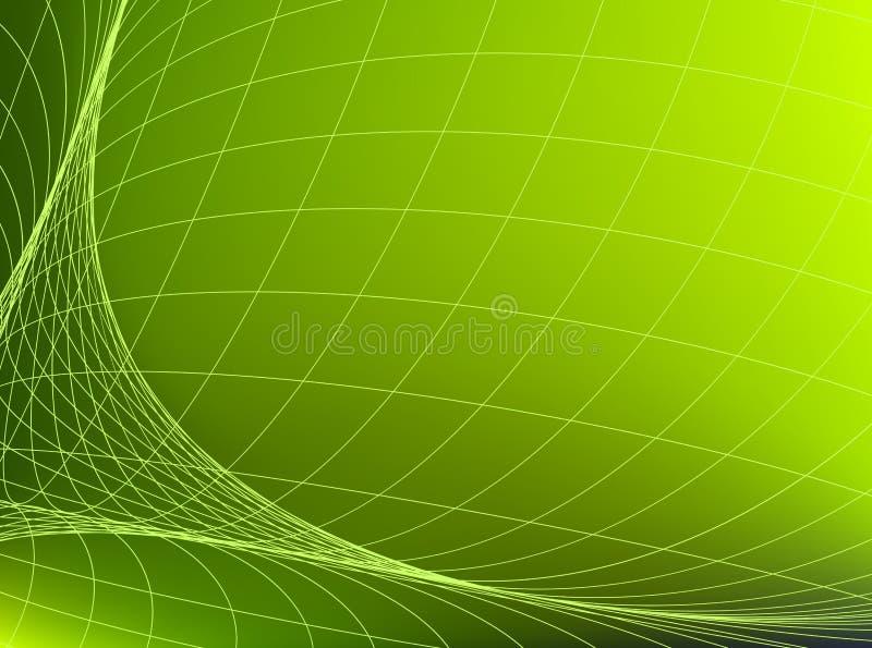 几何结构 在绿色空间的网络 抽象背景 向量例证