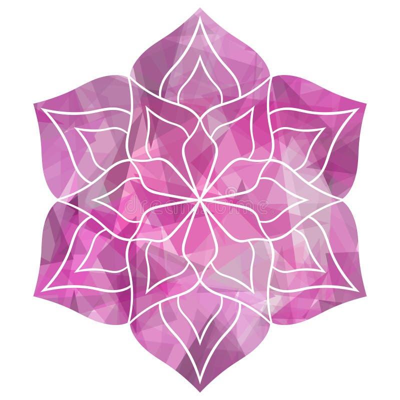 几何美丽的花坛场 图库摄影
