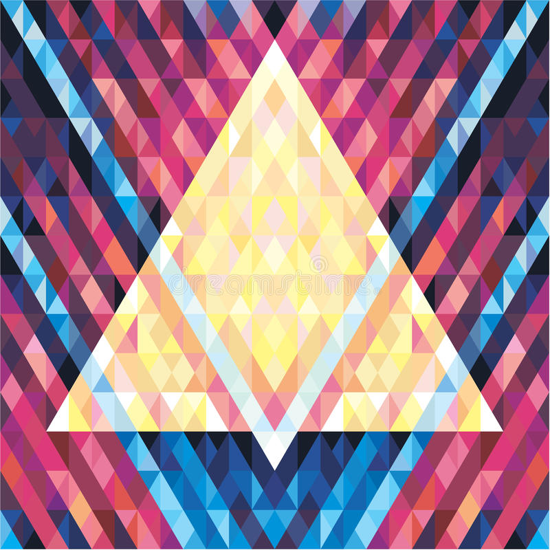 几何背景无缝的传染媒介样式02 库存例证