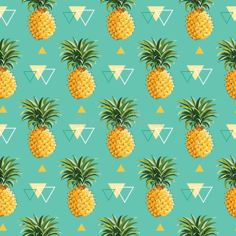 几何菠萝背景 皇族释放例证